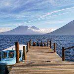 Landing on Lake Atitlan